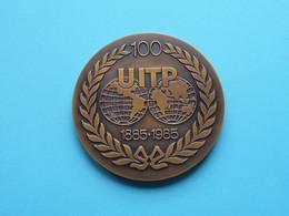 100 UITP 1885-1985 / UNION INTERNATIONALE DES TRANSPORTS PUBLICS ( Zie/voir Foto's ) 7 Cm. / 164 Gr.- Fisch ! - Unclassified