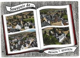 58 Brinon Sur Beuvron L'Eglise La Place Le Château (Carte Voyagée) - Brinon Sur Beuvron