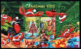 Christmas Island 2015 Christmas Minisheet Used - Christmaseiland