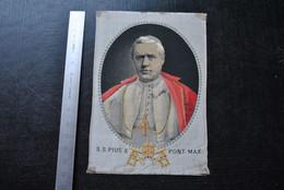 Ancienne Image Pieuse En Tissu Brodé S.S. PIUS X PONT. MAX. - Pie X Broderie RARE Pape Relique Reliquaire - Religion & Esotérisme