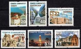 Turkey 2016. Tourism. Ordu, Erzincan, Denizli, Nevsehir, Izmir, Kars.  MNH** - Unused Stamps