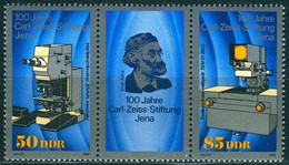 DDR - Mi 3252 / 3253 = WZd 802 ✶✶ # - 50/Zf/85Pf     Carl-Zeiss-Stiftung - Neufs