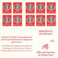 MONACO Carnet 13 ** MNH Armoiries De La Principauté 10 Timbres Validité Permanente 2000 - Carnet