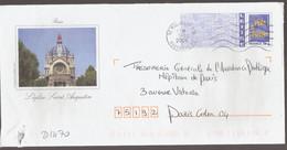 D1470 - Entier / Stationery / PSE - PAP France 20g, Paris, L'église Saint Augustin - Agrément 809 / I / 009 - Prêts-à-poster:Overprinting/Blue Logo