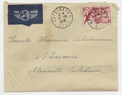 PA 50FR SEUL LETTRE AVION VOISINLIEU 14.10.1948 OISE POUR NOUVELLE CALEDONIE AU TARIF - 1921-1960: Modern Period