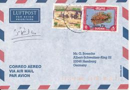 Sudan Air Mail Cover Sent To Germany 1997 - Sudan (1954-...)