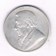 1 SHILLING 1896 (mintage 437000 Ex) Kruger  ZUID AFRICA /3886/ - South Africa