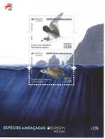 TIMBRES - FRANCOBOLLI - STAMPS - PORTUGAL (MADEIRA) - EUROPA CEPT -ESPÈCES MENACÉES- BLOC AVEC DE NOUVEAUX TIMBRES - MNH - Other