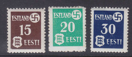 Dt.Bes.2.WK Estland MiNr. 1-3x ** - Occupation 1938-45