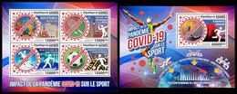 GUINEA 2021 - COVID-19 Effect On Sport. M/S + S/S. Official Issue [GU210154] - Sin Clasificación