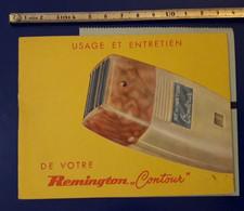 1957 PUBLICITE REMINGTON RASOIR AVEC PAPIER DE GARANTIE BD JEAN JAURES BOULOGNE  18 PAGES - Publicités