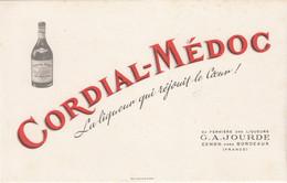 Buvard & Blotter -  Liqueur  CORDIAL MEDOC - JOURDE Cenon Près  Bordeaux - Unclassified