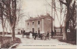 Chateauneuf De Gadagne La Gare Carte En Bon état - Autres Communes
