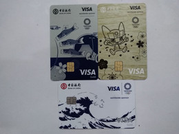 China , Olympic Games, Tokyo 2020, (3pcs) - Credit Cards (Exp. Date Min. 10 Years)