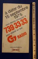 TAXI G7 - Publicités