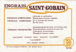 Buvard & Blotter -  Engrais Saint Gobain - 16 Avenue Matignon PARIS (8ème) - Unclassified