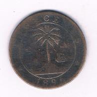 TWO CENTS 1896 -RARE-(mintage 323000 Ex) LIBERIA /3895/ - Liberia