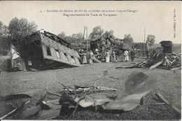 Accident De Chemin De Fer En 1919 Entre GRAY Et CHARGEY.Wagons éventrés Du Train Des Voyageurs - Non Classificati