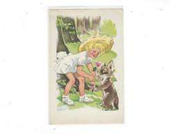 THEME ILLUSTRATEUR   FILLETTES  Et Son Petit Animal PAR   MANON LESSEL    *****     A  SAISIR  *** - Other Illustrators