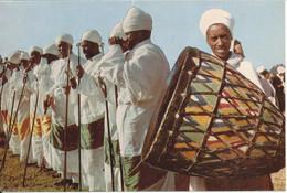 Sudan Postcard Sent To Denmark Khartoum 28-3-1980 (Priests During Temket Festivities) - Sudan