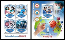 GUINEA BISSAU 2021 - Global Fight Against COVID-19, M/S + S/S. Official Issue [GB210123] - Medicina