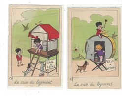 THEME ILLUSTRATEUR  LOT DE 2 CARTES LA CRISE DU LOGEMENT      *****     A  SAISIR  *** - Other Illustrators