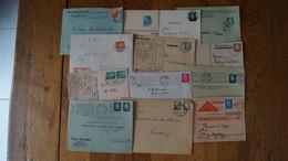 Deutsches Reich Hindenburg Ebert 411 416 414 412 444 Paire - Storia Postale