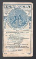 Dépliant L'EPARGNE CAPITALISEE  (PPP28775) - Publicités