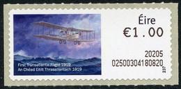 IRELAND (2020). SOAR ATM - 100 Years First Transatlantic Flight 1919, John Alcock & Arthur Brown, Vickers Vimy Aircraft - Affrancature Meccaniche/Frama