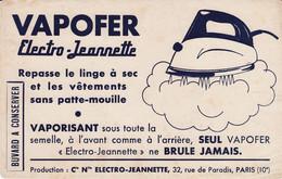 Buvard & Blotter -  VAPOFER  Electro-Jeannette - Fer à Repasser électrique à Vapeur -  Rue De Paradis Paris - Ohne Zuordnung