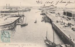 Yvert 111 Blanc Cachet Ambulant Convoyeur Dunkerque à Calais 1906 Sur Carte Postale Pour Paris - Railway Post