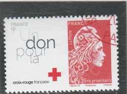 FRANCE 2018 MARIANNE D YZ CROIX ROUGE OBLITERE YT 5283A - Used Stamps
