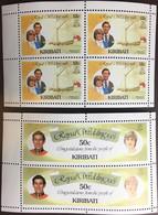 Kiribati 1981 Royal Wedding Booklet Panes MNH - Kiribati (1979-...)