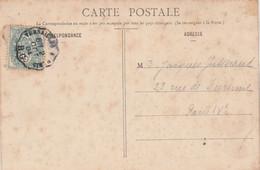 Yvert 111 Blanc Cachet Ambulant Convoyeur Versailles à Paris RG 1904 Sur Carte Postale Pour Paris - Railway Post