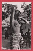 CPSM- Cercle De GUIGLO- Jeune Fille GUÉRÉ* Seins Nus - Tresses* Ed. Ph. Ciné .Abidjan *Scan Recto/Verso - Costa D'Avorio