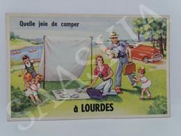#CPA.401 - Quelle Joie De Camper à Lourdes - Carte à Tiroirs Systèmes - Móviles (animadas)