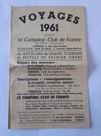 Dépliant Touristique - Voyages 1961 Vierzon - Mehun - St Florent - Publicités Diverses De Bourges -  ... Lot400 . - Publicités