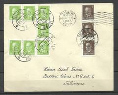 Estonia Estland 1937 Cover Franked With Lot Of Michel 113 & 114 - Estonia