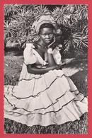 "CPSM-Cameroun * Jeune Femme élégante ** Ed. ""au Messager"" Douala Yaoundé Bangui*1038*Scan Recto/Verso - Camerun"