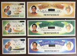 Montserrat 1982 Royal Wedding Official Set MNH - Montserrat