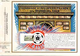 DOCUMENT FOOTBALL HOMMAGE A L'EQUIPE DE FRANCE MONDIAL 82 ESPAGNE - 1982 – Espagne