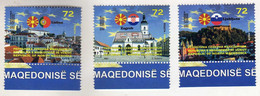 Macedonia 2021 - Macedonia In EU - Lisbon - Portugal / Ljubljana - Slovenia / Zagreb - Croatia MNH Mint ** - Macedonia
