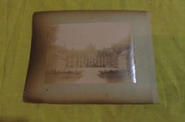 2 Photos Albuminées 1895 Sancerre Le Viaduc De Satur Et Un Château Du Sancerre - Places