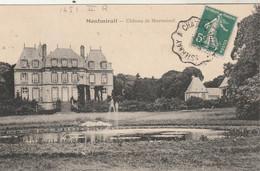 Yvert 137 Semeuse Cachet Ambulant Convoyeur Esternay à Chateau Thierry Sur Carte Postale Montmirail Pour Chalons Marne - Railway Post