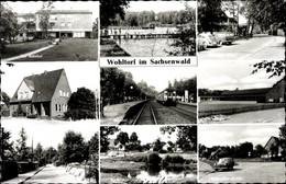 CPA Wohltorf In Schleswig Holstein, Bahnhof, Tonteich, Kastanienallee, Schule, Eschebruchsiedlung - Otros