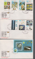 1986. REP. POP DU KAMPUCHEA. HALLEY  Set + Block FDC 21-7 1986. (Michel 783-789 + BLOCK 148) - JF419322 - Cambodge