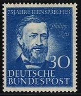Bund, Michel Nr. 161 Postfrisch - Philipp Reis - Unused Stamps
