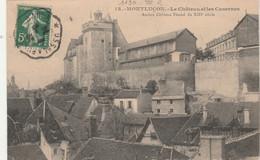 Yvert 137 Semeuse Cachet Ambulant Convoyeur Ussel à Busseau D' Ahun 1914 Sur Carte Postale Montluçon Pour Paris - Railway Post