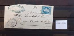 05 - 21 - France - Fragment N° 22 Oblitération GC 2436 Montbenois - Doubs + Cachet De Facteur B - 1862 Napoleone III