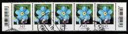 Bund 2017,Michel# 3324 O Blumen:Vergissmeinnicht, Waagerechter Fünferstreifen Mit EAN-Code - Gebraucht